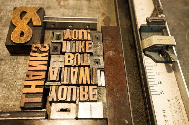 dřevěné dopisy