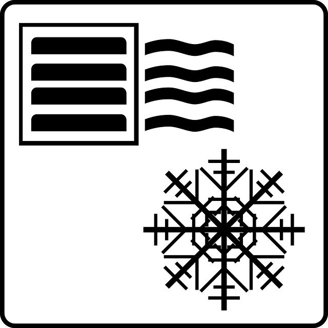 klimatizace, sněhová vločka