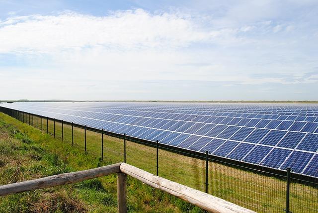 solární panely elektrárny