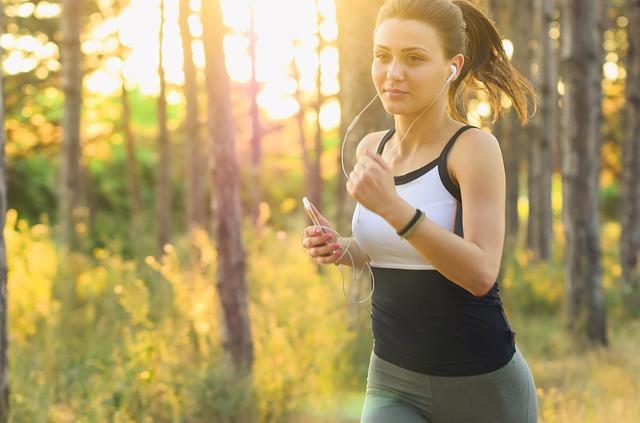 kondiční běh v lese