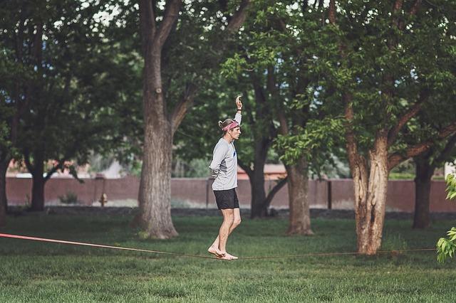 chůze na laně