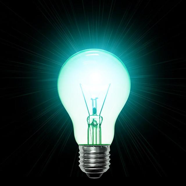 tyrkysové světlo