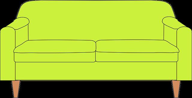 zelená pohovka